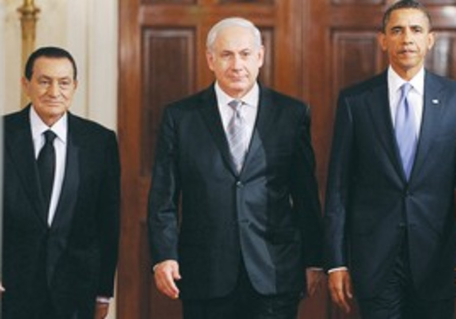 Netanyahu, Obama and Mubarak in Washington