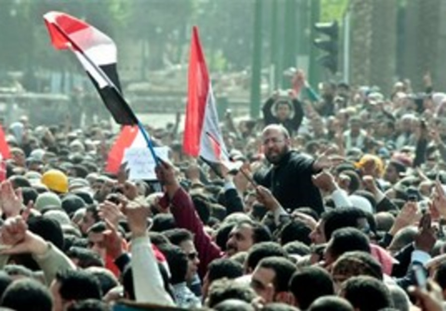 Anti-Mubarak protest in Caiso's Tahrir Square