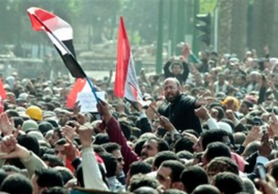 Anti-Mubarak protest in Caiso's Tahrir Square