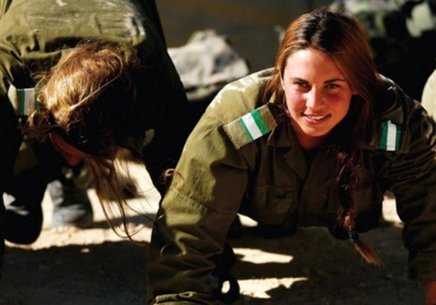 A female soldier [illustrative]