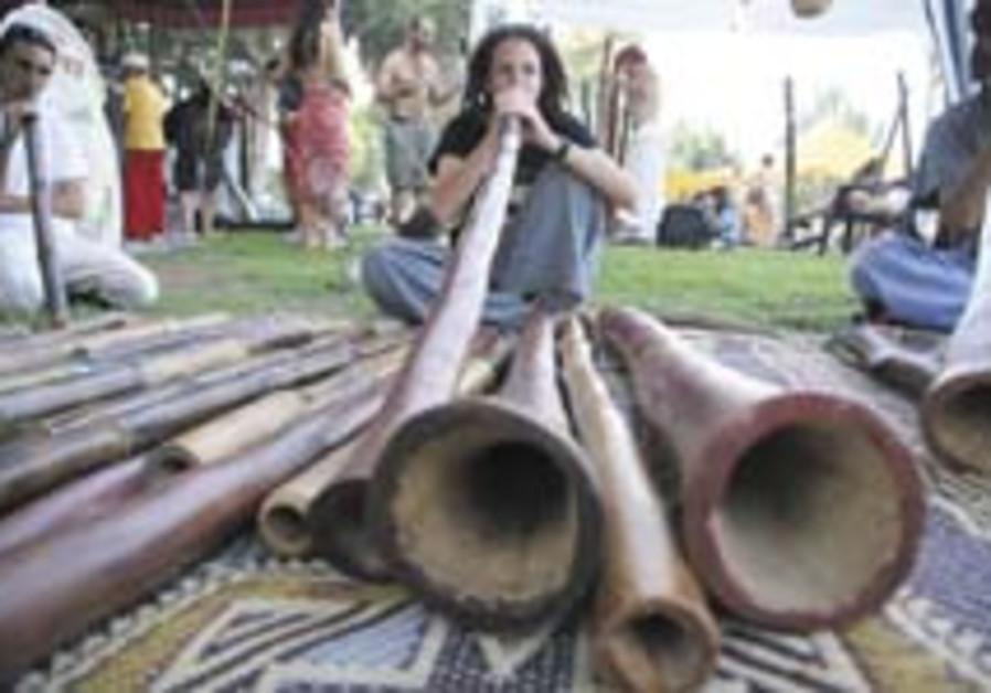 Aboriginal shofar celebration