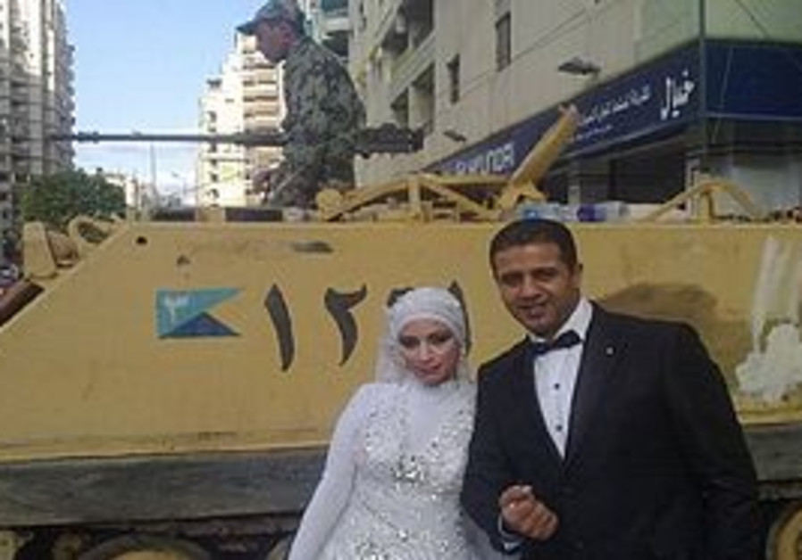 An Egyptian wedding in Tahrir Square