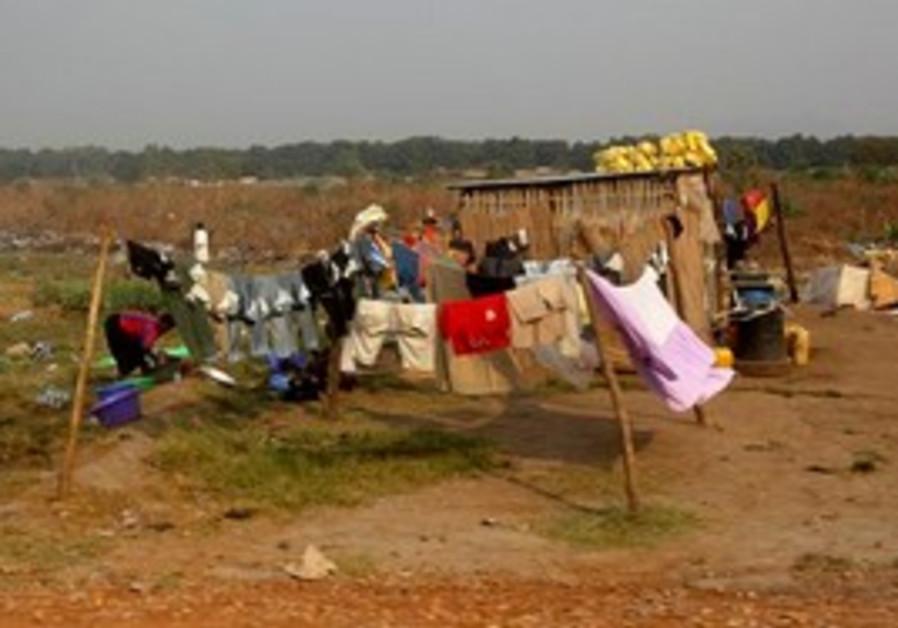 A shack in Juba, Southern Sudan