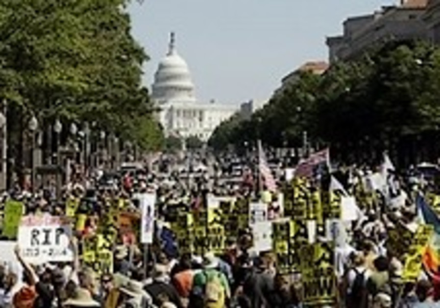 More than 190 arrested at anti-Iraq war D.C. protest