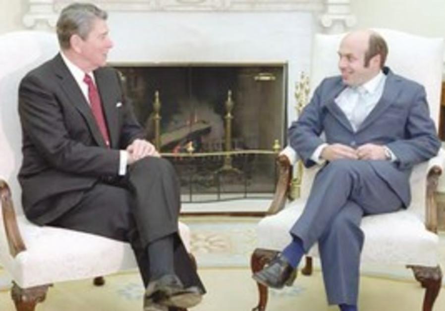 Former US president Ronald Reagan and Sharansky
