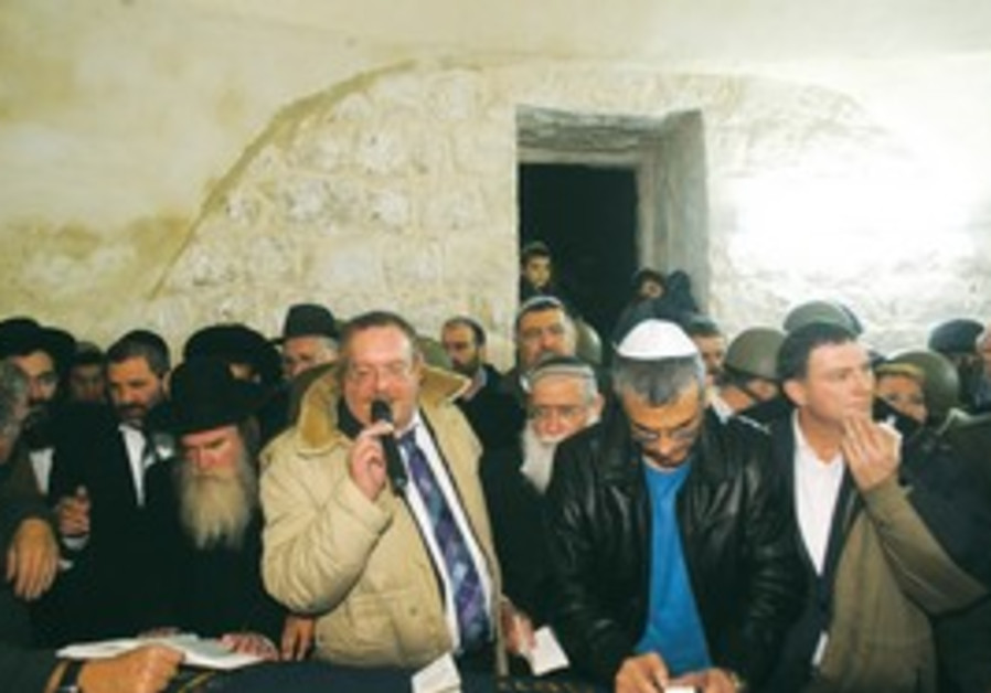 Ministers visit Joseph's Tomb in Nablus.