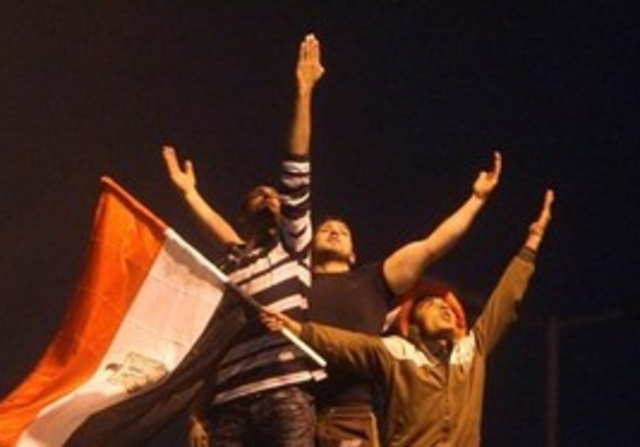 Egyptians celebrating