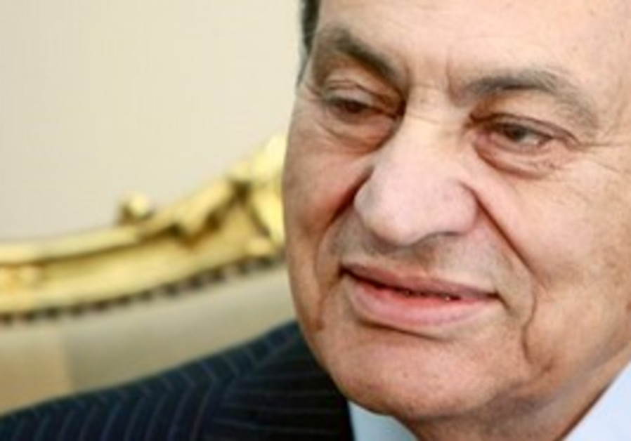 Deposed Egyptian president Hosni Mubarak