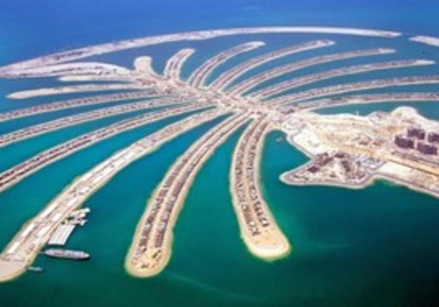 Palm tree island in Dubai, UAE