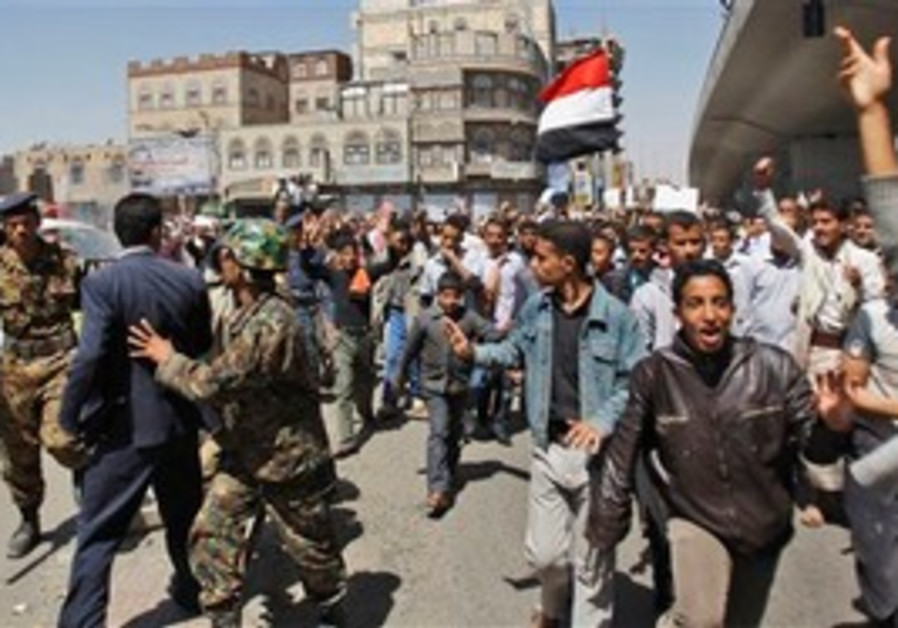 Anti-government protests in Yemen.