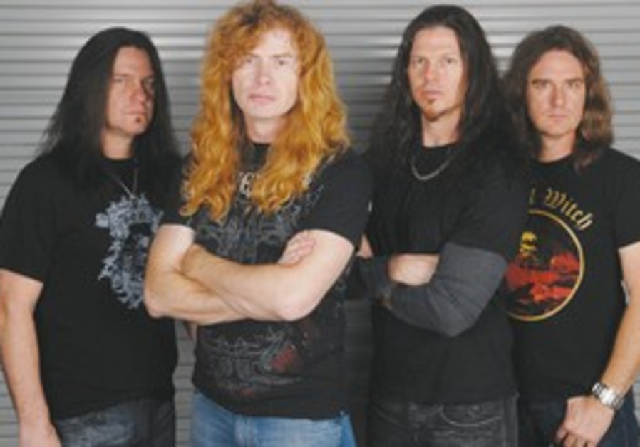 PACK LEADER. Headed by Dave Mustaine (second from