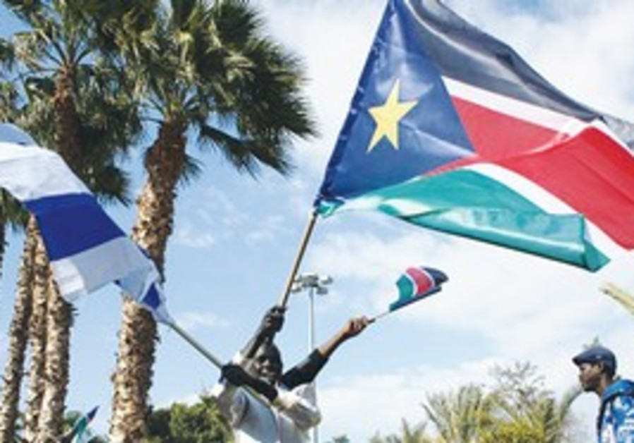 African migrants celebrate S. Sudan independence