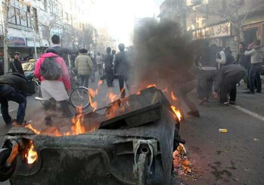 Protestors in Iran