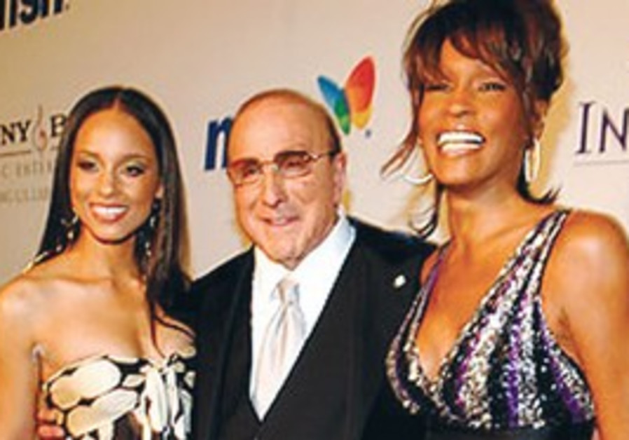 Clive Davis with Alicia Keys, Whitney Houston