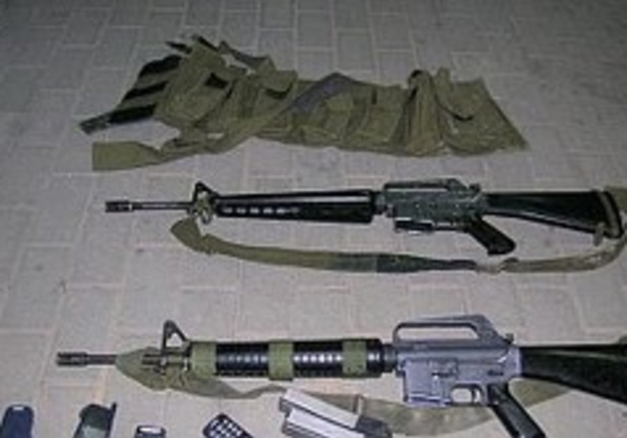 M-16 rifles were also stolen from the base [illust