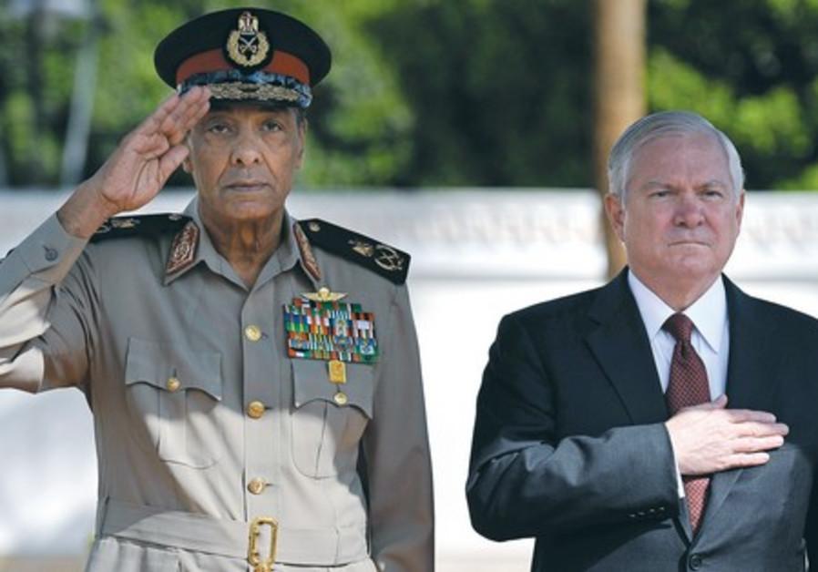 Egyptian Defense Minister Tantawi and Robert Gates