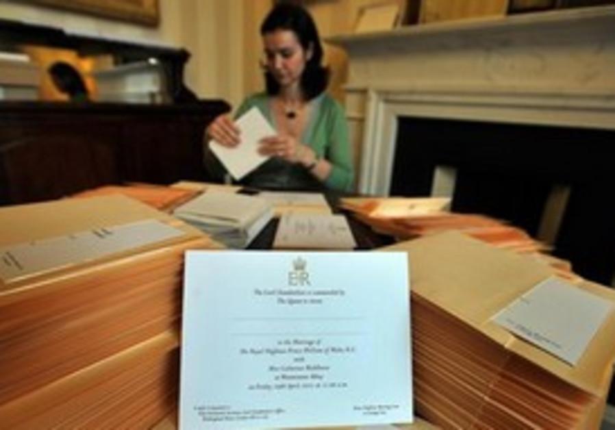 Royal invites at Buckingham Palace in London