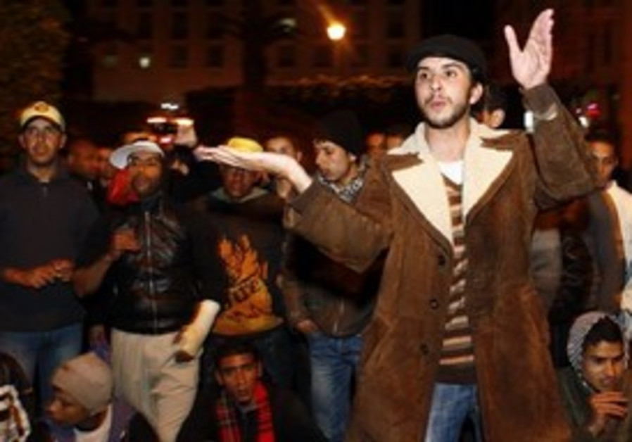 Moroccan leader of a group of young activists