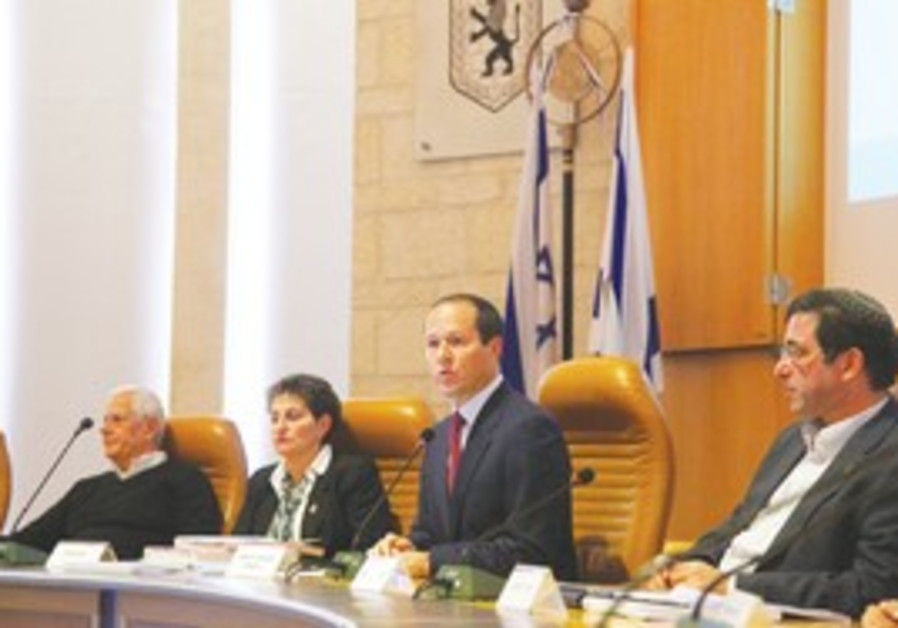 JERUSALEM MAYOR Nir Barkat presents budget
