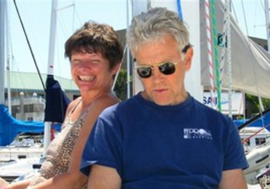 Phyllis Macay and Bob Riggle are seen on a yacht i
