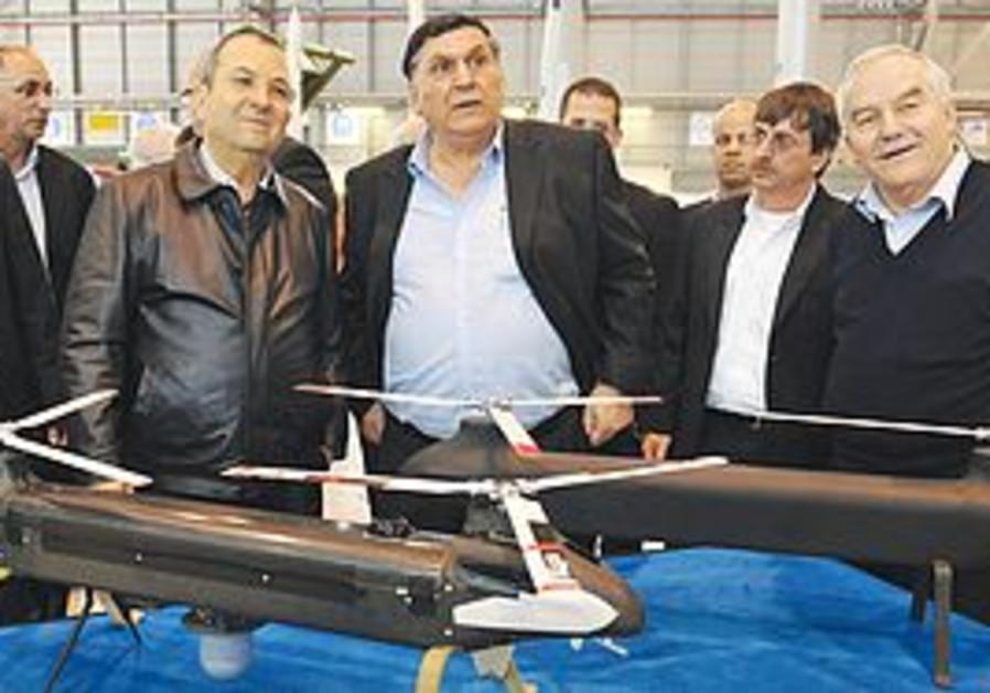 Ehud Barak visits Israel Aerospace