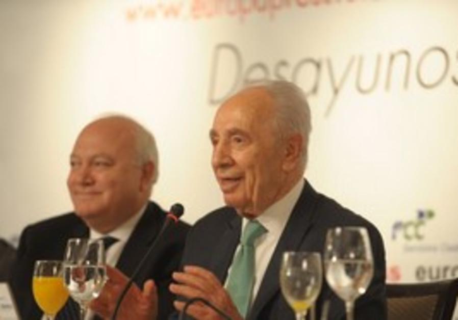 President Shimon Peres in Madrid