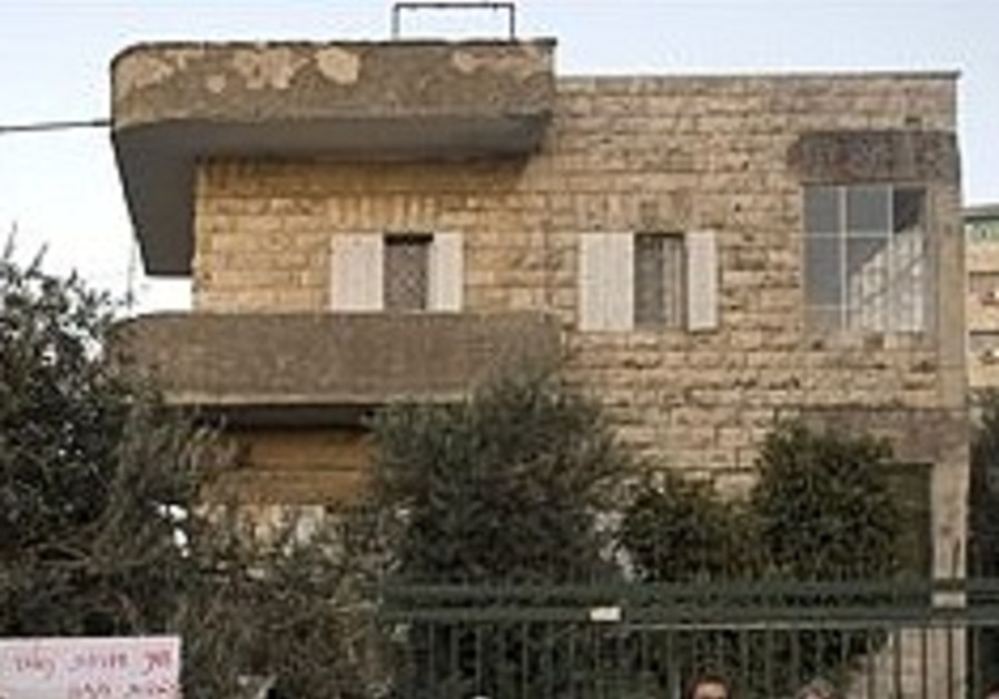 One of the houses evicted in Sheikh Jarrah.