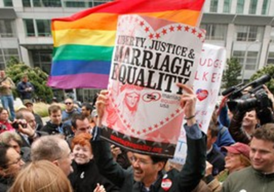 Protesters for gay marriage rights