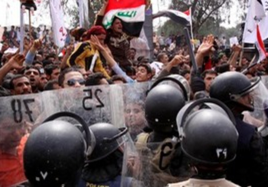 Security forces clash with protesters in Iraq