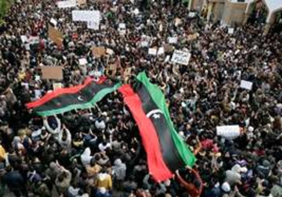 Anti-Gaddafi protesters in Libya