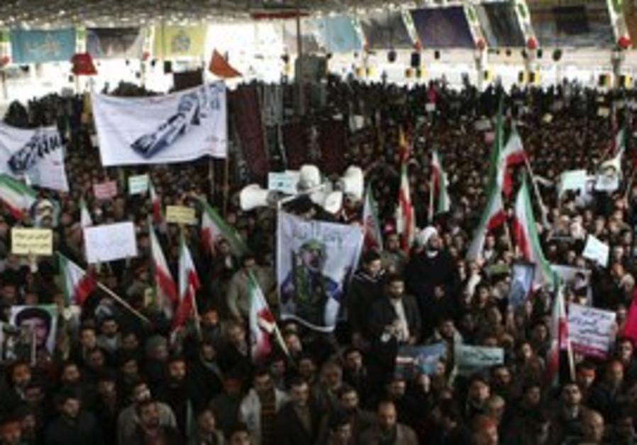 Opposition gathering in Tehran, Feb. 16.