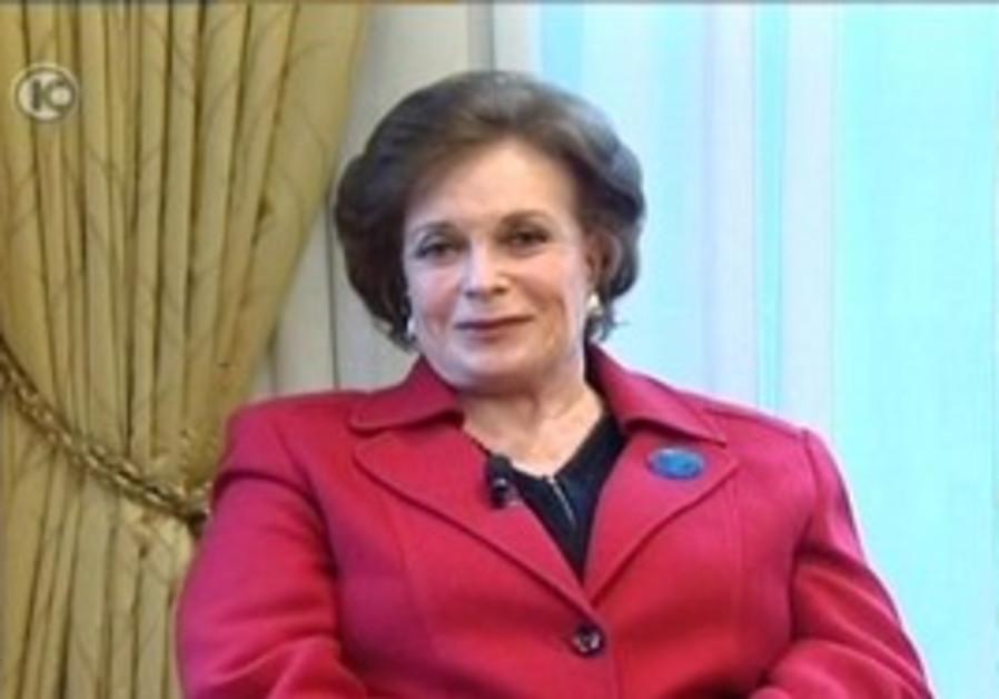 Jehan Sadat, widow of Anwar Sadat, on Tuesday.