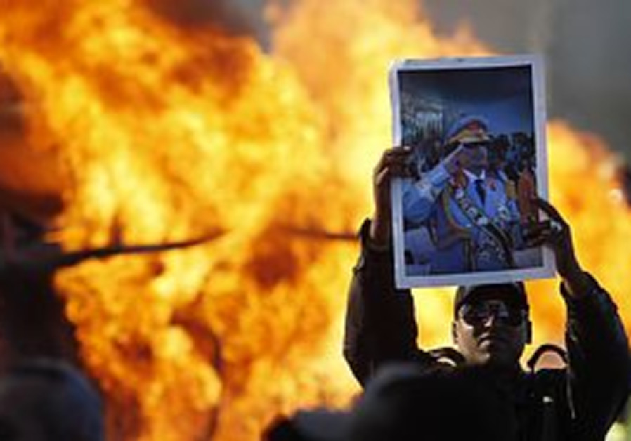 Pro Gaddafi demonstrator in Libya