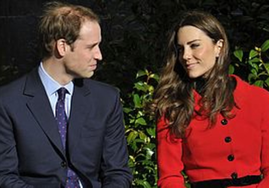 Prince William and fiance Kate Middleton