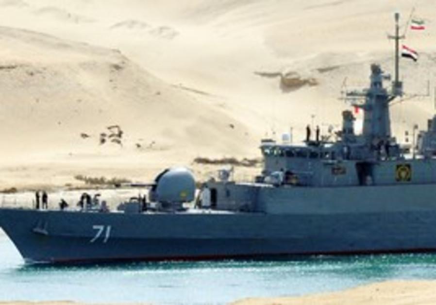 Iranian warship passes through Suez Canal