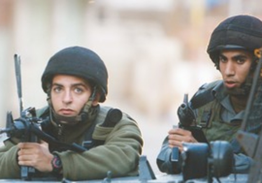 IDF forces patrol in the West Bank