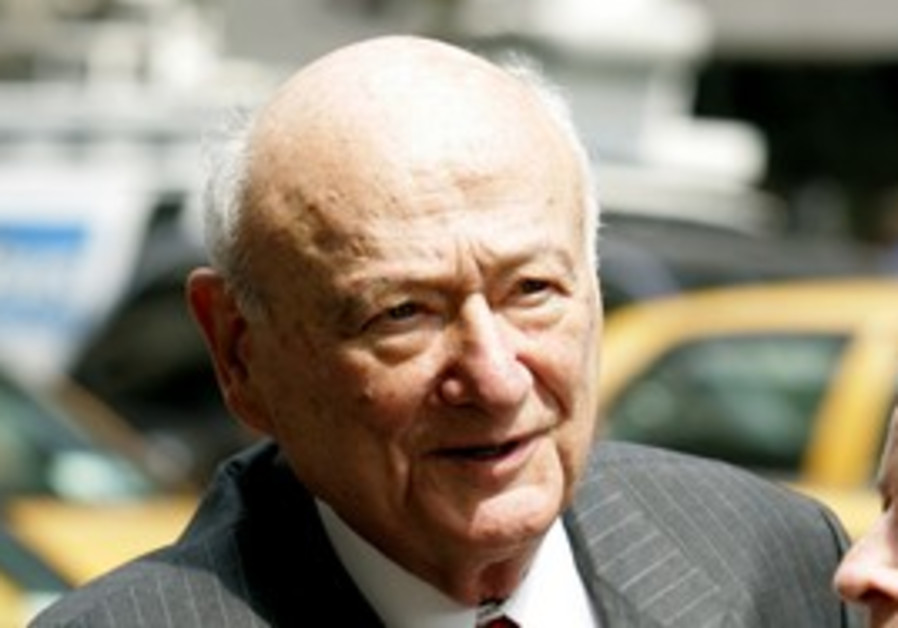 Former New York mayor Ed Koch.