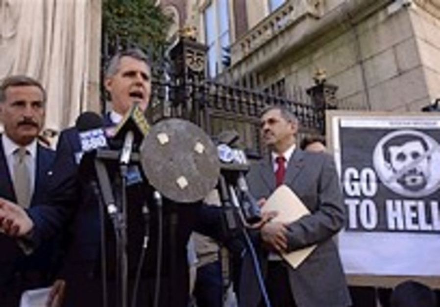 Ahmadinejad grilled in Columbia Q&A
