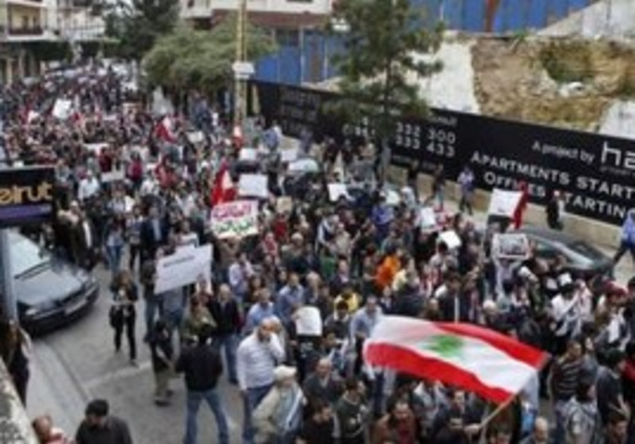 protests against Lebanon's political system