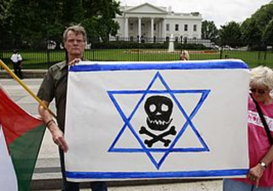 Anti-Israel protesters at the White House