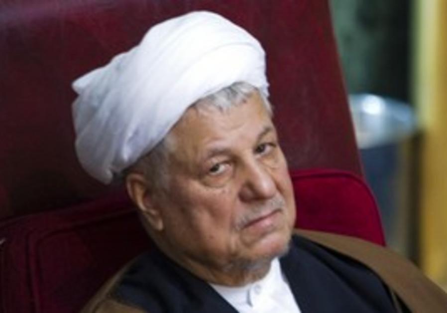 Former Iranian president Akbar Hashemi Rafsanjani.