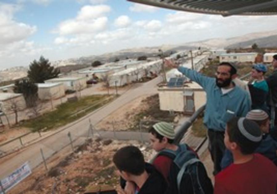 A field trip in Pisgat Yaakov north of Ramallah