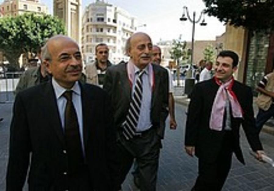 Report: Barak to meet Jumblatt in US