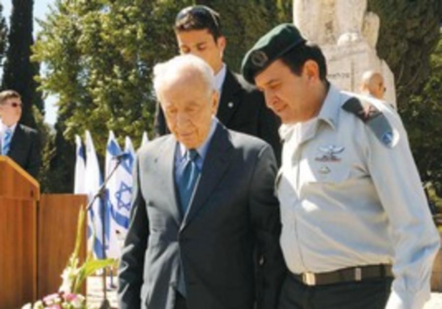 President Shimon Peres in Tel Hai