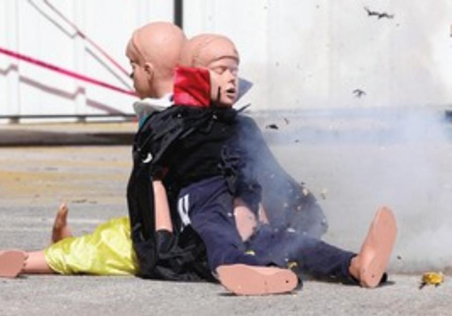Police demonstrate danger of fireworks