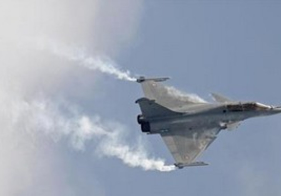 French combat aircraft is en route to Libya.
