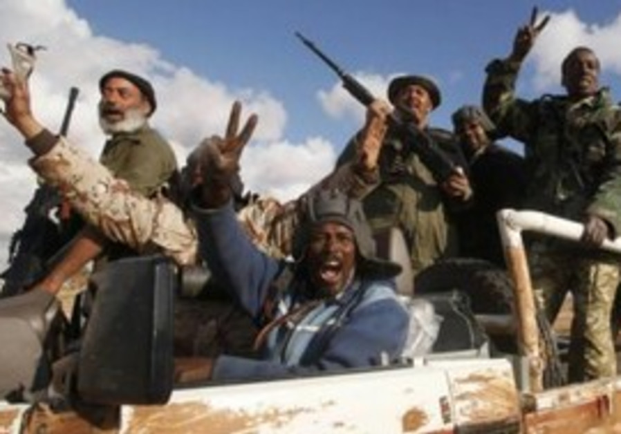 Libyan rebels celebrate