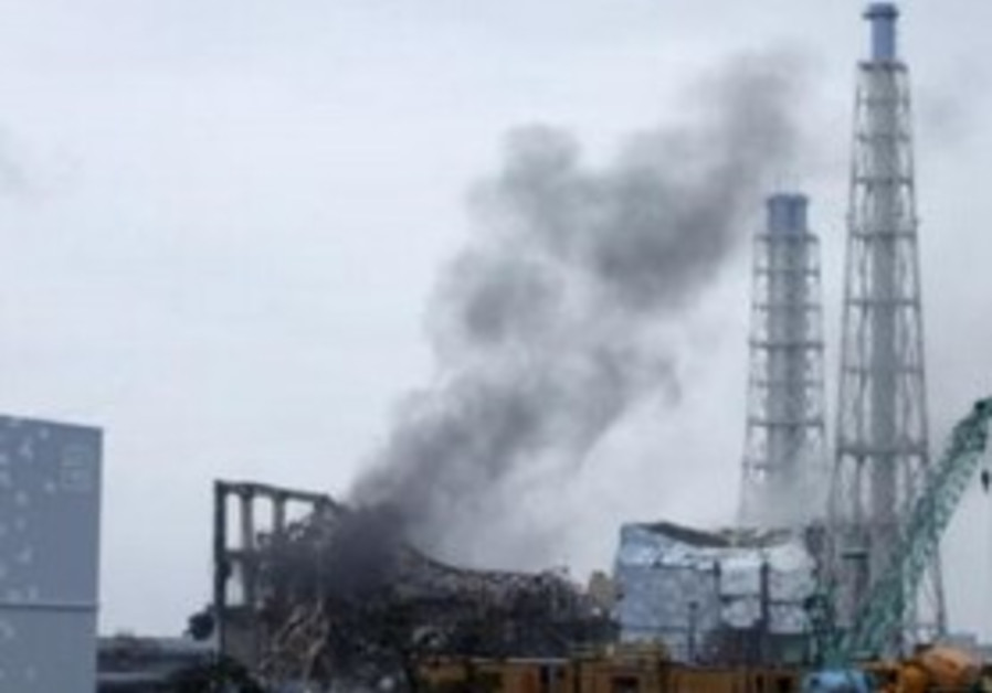 Smoke is seen coming from area of No. 3 reactor