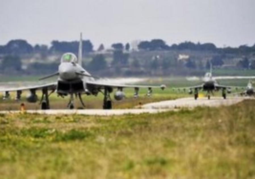 British Royal Air Force (RAF) Typhoon fighter jet