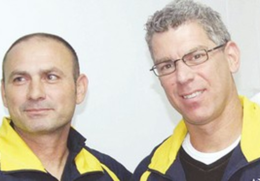 Maccabi Tel Aviv coach and pres